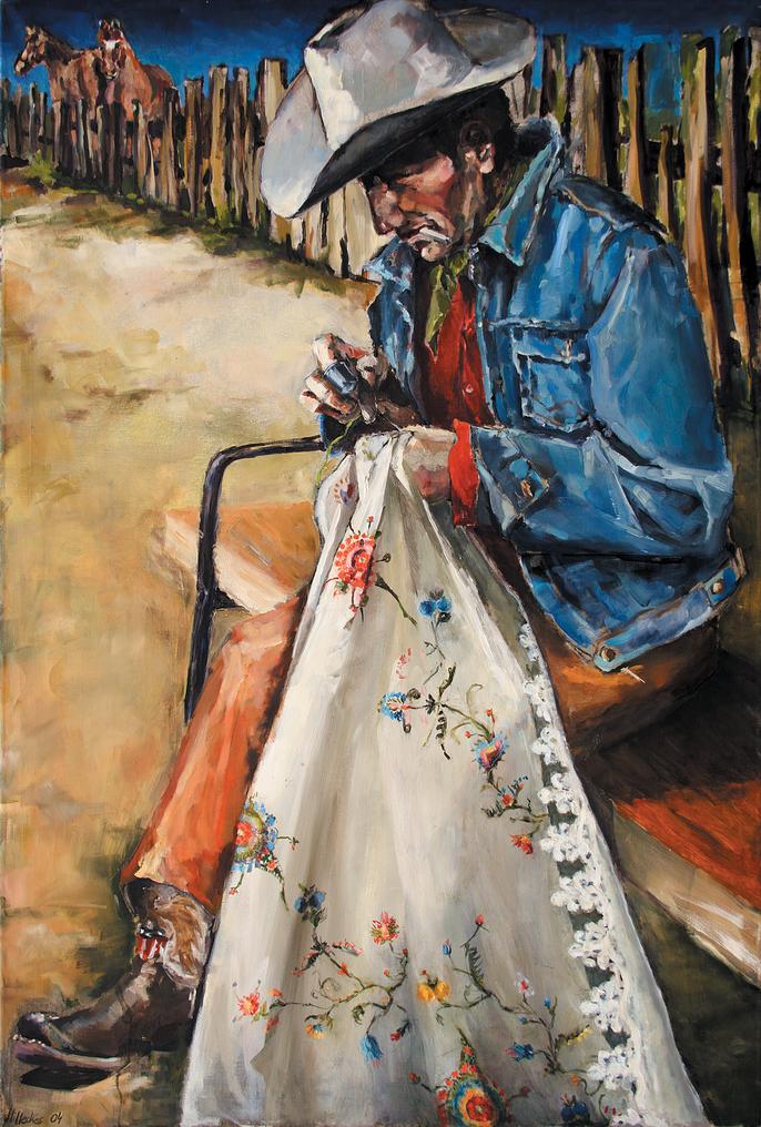 Cowboys | Sticker  (Cowboys | Embroiderer) Acryl und Öl auf Leinwand | Acrylic and Oil on Canvas
