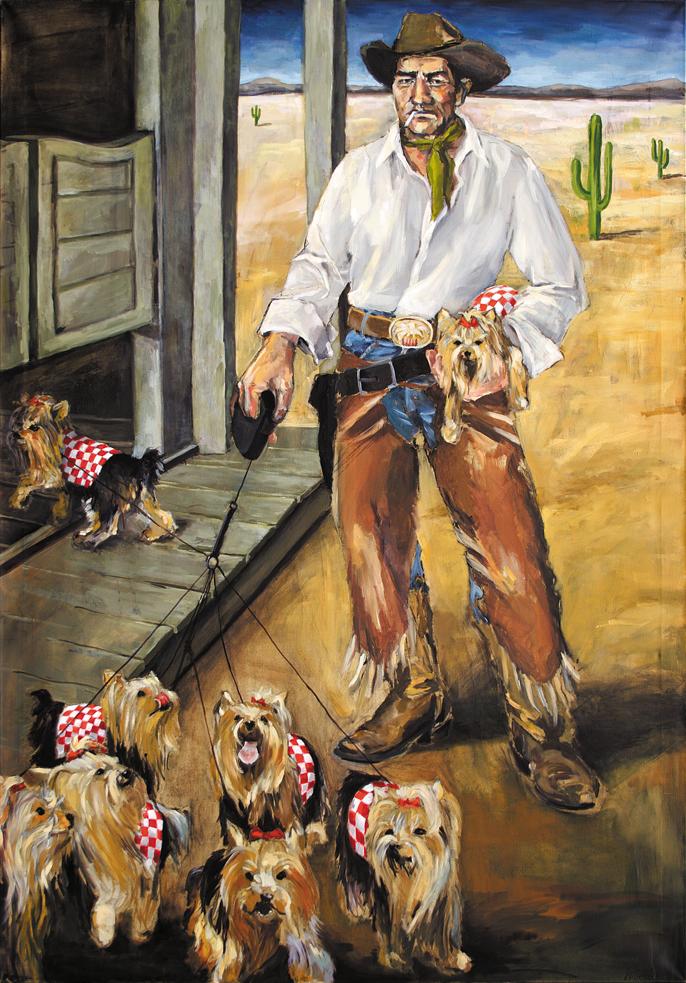 Cowboys | Herrchen  (Cowboys | Dogmaster)  Acryl und Öl auf Leinwand | Acrylic and Oil on Canvas